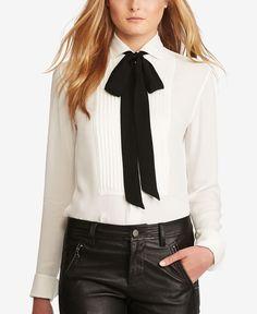 Polo Ralph Lauren Pleated Silk Shirt