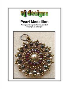 Instructions for Pearl Medallion- Beading tutorial via Etsy