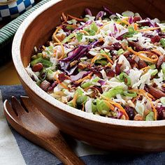 Cranberry-Almond Coleslaw Recipe. Halved the recipe and it's perfect for about four people. Great spring, healthy salad.