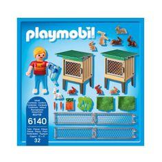6140 Enfant avec enclos à lapins et clapier Playmobil