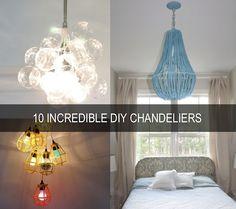 10 Incredible DIY Chandeliers from @Andrea Zimmerman