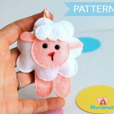 Felt Sheep Sewing Pattern A776 – The Pattern Hub, Felt Toy Sewing ...