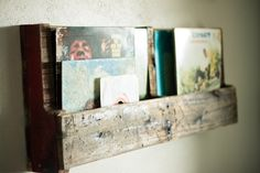 Strawberry Chic: Recycled Wood Pallet Shelving