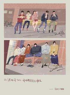 Family Illustration, Cute Illustration, Graphic Design Illustration, Digital Illustration, Park Bo Gum Reply 1988, Korean Drama Quotes, Fashion Vector, Weightlifting Fairy, Drama Korea