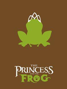 The Princess and the Frog Poster tiana Disney Pixar, Film Disney, Disney And Dreamworks, Disney Love, Minimalista Disney, Poster Minimalista, Disney Minimalist, Minimalist Poster, Minimalist Art
