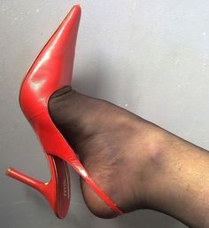 sexy red high heel slingbacks