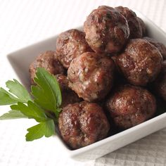 Paleo Czech Meatballs. Pork, caraway seeds, and mustard - super flavorful and tender. Whole30 approved.