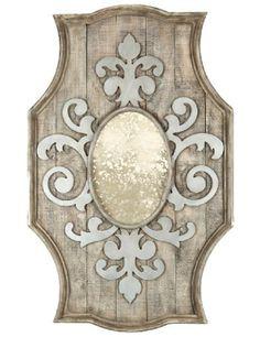 Fleur de Lis Wooden Mirror