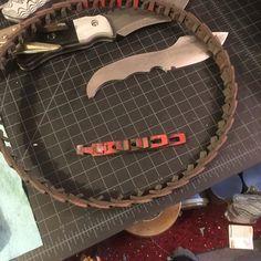 #Vbelt shortened. #EvaderKnives #customknife #customknives #knifemaking #knifemaker