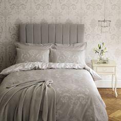 Josette Dove Grey Cotton Duvet Cover