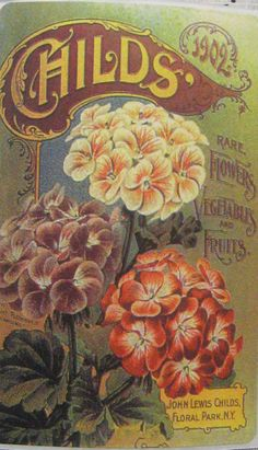 Vintage seed advertisement stickers