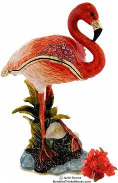 Trinket Box: Flamingo on ShoreTrinket Box