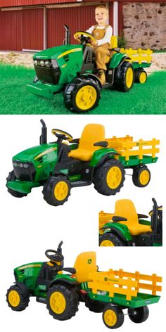 You've got a tractor, now your kid can manage their own part of the lawn on their tractor! This is a great idea for some good kids' fun.