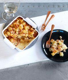 Australian Gourmet Traveller French entertaining recipe for tartiflette by Russell Blaikie from Must Winebar.