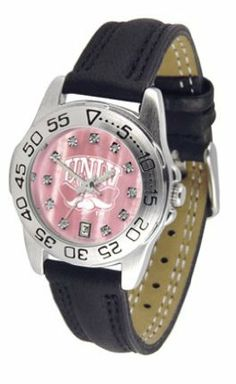 Las Vegas (UNLV) Runnin' Rebels Ladies Sport Watch with Leather Band and Mother of Pearl Dial by SunTime. $59.04. Calendar Date Function. Rotation Bezel/Timer. Scratch Resistant Face. This handsome, eye-catching watch comes with a genuine leather strap. A date calendar function plus a rotating bezel/timer circles the scratch-resistant crystal. Sport the bold, colorful, high quality Las Vegas (UNLV) Runnin' Rebels logo with pride.The hypnotic iridescence of our natura...