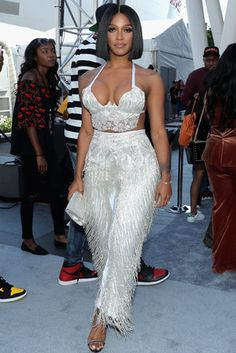 The 2017 BET Awards are finally here and our favorite celebs are hitting the red carpet in sunny California and delivering some major style moments. See the best look from the star-studded event! White Outfits, Classy Outfits, Sexy Outfits, Summer Outfits, Fashion Outfits, Joseline Hernandez, Birthday Dresses, Birthday Outfits, Club Outfits