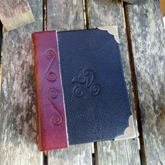handmade journal leather bound with raven by johnnythescavenger, £20.00