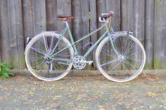 """Royal H Mixte by Lovely Bicycle!  from the article: """"How Upright is Upright?""""  http://lovelybike.blogspot.com/2012/06/how-upright-is-upright.html"""