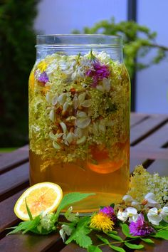 SYROP Z KWIATÓW BZU, AKACJI, KONICZYNY, JASNOTY I MNISZKA | weganon.pl Herbal Remedies, Natural Remedies, Homemade Liquor, Vegetarian Recipes, Healthy Recipes, Honey Recipes, Keto Diet For Beginners, Fermented Foods, Edible Flowers