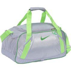 New Gym Bag! Nike Varsity Girl 2.0 Medium Duffel (Wolf Grey/Neutral Grey/Gym Green)
