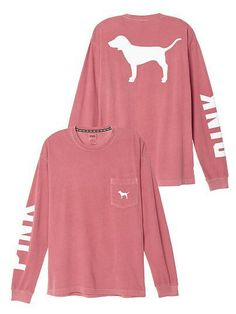 Victoria's Secret Pink Campus Long Sleeve Dog Logo Tee Shirt Begonia Victorias geheimes rosa Campus-langärmliges Hundelogo-T-Shirt Begonie This image has. Victoria Secret Outfits, Victoria Secret Pink, Victoria Secret Clothing, Victorias Secret Clothes, Look Casual, Casual Chic, Pink Outfits, Cute Outfits, Vs Pink Outfit