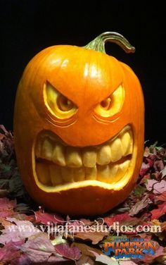 3D Halloween Pumpkin Carvings