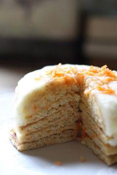 Carrot cake pancakes! #breakfast #sweets #pancakes