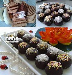 Muzlu Ve Çikolatalı Toplar Tarifi nasıl yapılır? 8.154 kişinin defterindeki bu tarifin resimli anlatımı ve deneyenlerin fotoğrafları burada. Yazar: Mutfak Gülü