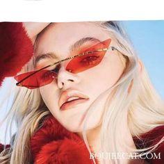 BLappeals Sunglasses RBROVO 2018 Brand Designer Cat eye Sunglasses Women Vintage Metal Reflective Glasses For Women Mirror Retro Oculos De Sol Gafas - Cute Glasses, Cat Eye Glasses, Glasses Frames, Glasses Sun, Look 80s, Luxury Glasses, Royal Girls, Lunette Style, Cat Eye Colors