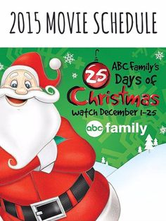 ABC Family's Christmas programming schedule. | 27 Things That Christmas-Obsessed Parents Need Right Now