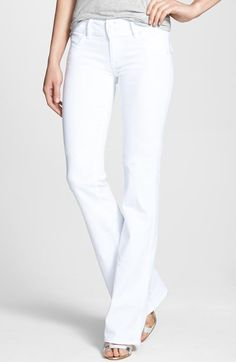 Hudson Jeans 'Supermodel Signature' Bootcut Stretch Jeans (White Wash) (Long) available at #Nordstrom