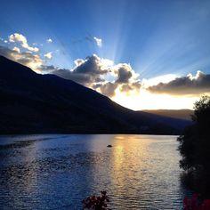 Una bella veduta del Lago di Scanno al tramonto Foto @Mirka Bernabeo