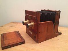 Online veilinghuis Catawiki: Zeer vroege en zeldzame Engelse tailboard STEREO camera Hunter & Sands ca 1883
