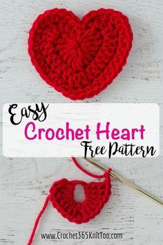 Heart Crochet Pattern Crochet Heart Pattern Crochet 365 Knit Too. Heart Crochet Pattern Easy Crochet Heart Garland Pattern Skip To My Lou. Heart Crochet Pattern Easy Crochet Hearts 3 Sizes Whoot Best Crochet And Knitting. Free Heart Crochet Pattern, Easy Crochet Patterns, Crochet Motif, Crochet Flowers, Knitting Patterns, Crochet Hearts, Crochet Yarn, Free Pattern, Pattern Ideas