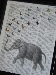 Elephant Art A HHP Original Design Ellie by HamiltonHousePrints, $8.00