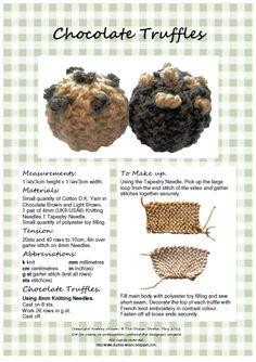 Chocolate Truffles Hand Knitting Pattern