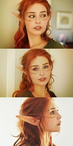 wish elves where real now. Dragon Age - Dalish female I wish elves where real now. Dragon Age - Dalish femaleI wish elves where real now. Cosplay Elf, Cosplay Makeup, Costume Makeup, Best Cosplay, Cosplay Girls, Female Cosplay, Elf Makeup, Makeup Ideas, Girl Elf Costume