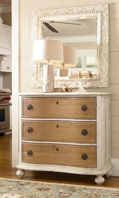 Rustic and relaxed. Paula Deen's favorite chest.