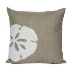 SANDERLING Sand Dollar Pillow Cover Sand by UrbanNestDesigns