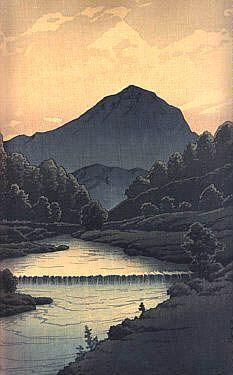 """""""Hida Kamagatake"""" by Kawase Hasui, 1933"""