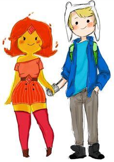 Cute :) Finn x Flame Princess - Adventure Time
