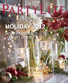 PartyLite holiday 2012 home fragrance & gift guide