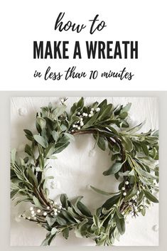 christmas wreaths Today I am going to share with you the easiest DIY ever. Its titled How to Make a Christmas Wreath (in ten minutes or less!) I love doing crafts for the holidays and these wreaths are so pretty and easy to create! Christmas Wreaths To Make, Christmas Crafts, Christmas Decorations, Xmas, Handmade Decorations, Christmas Wresths, Winter Wreaths, Handmade Christmas, Christmas Ideas