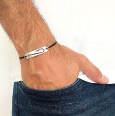 Men's Silver Plated Hook Summer Friendship Bracelet- Unisex Bracelet, Gift for him, Fishing Hook, Men's Jewellery, Adjustable Bracelet Adjustable Knot, Adjustable Bracelet, Silver Man, Silver Plate, Men's Jewellery, Jewelry, Colorful Bracelets, Hand Cream, Fish Hook