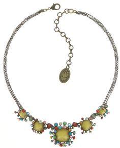 Halskette Alien Caviar yellow/multi