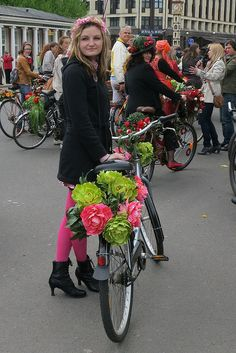 riga bicycle flower festival - Google Search