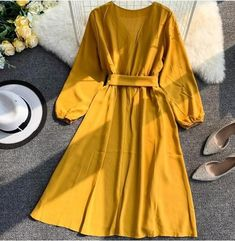 Stylish Dresses For Girls, Stylish Dress Designs, Spring Dresses Casual, Casual Dress Outfits, Modest Dresses, Simple Dresses, Girls Fashion Clothes, Modest Fashion, Teen Fashion Outfits