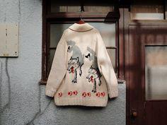 vintage/common destiny cowichan cardigan /即興