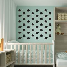 Elephants Magnetic Decals #magnormous #kidsbedroomideas Elephants, Kids Bedroom, Silhouettes, Cribs, Magnets, Decals, Furniture, Home Decor, Cots