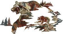 """Reflections of the Wilderness-Bear Steel Wall Hanging 